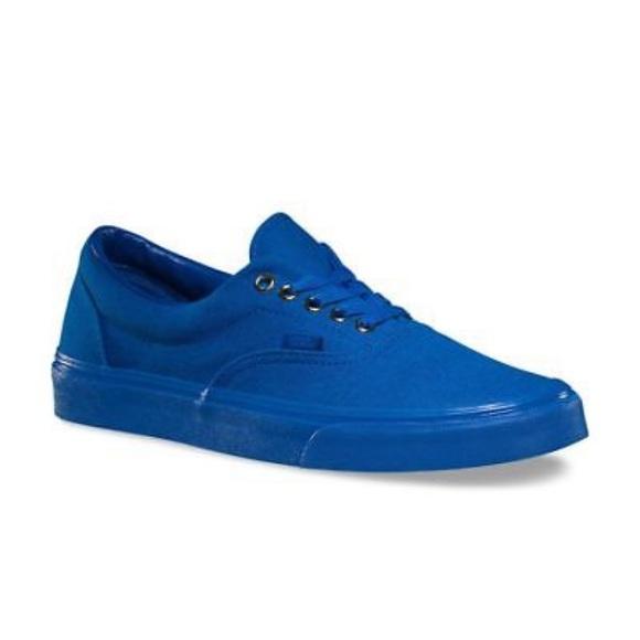 Vans era mono blue and gold sneaker shoes new af0c3f092